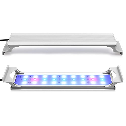 JOOCII 水槽 ライト 30CM 水槽用3色LED 照明 超薄い 水草育成 アクアリウムライト 熱帯魚 27個ビーズ 淡水&海水両用(8.5W 省エネ)