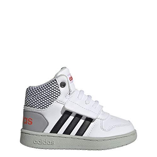 adidas Hoops Mid 2.0 I, Zapatillas Unisex bebé, Blanco (Footwear White/Core Black/Ash Silver 0), 23.5 EU