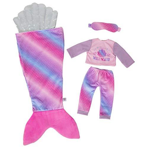 DesignaFriend Juego de pijama con diseño de sirena, con diseño de sirena, color negro