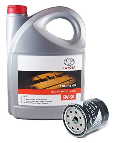Duo Pack Motorolie Echte Toyota 5W-30 PFE synthetisch 08880-83389 C2 + oliefilter 90915-YZZJ3