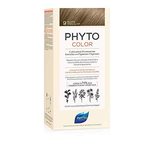 Phyto Phytocolor 9 Biondo Chiarissimo Colorazione Permanente senza Ammoniaca, 100 % Copertura Capelli Bianchi