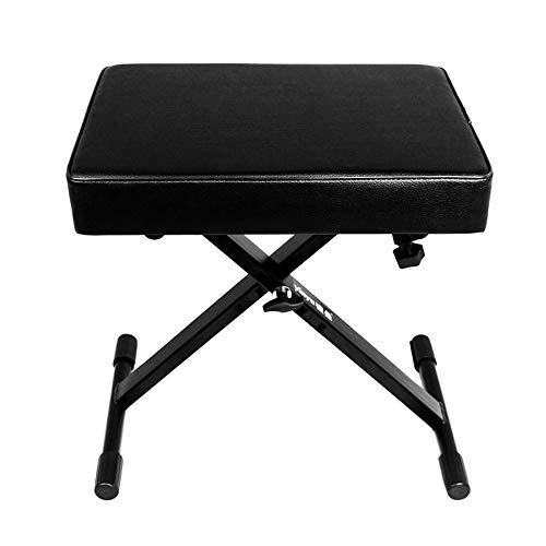 Folding Bänke X-Typ Aufzug Verdickung E-Piano-Hocker Gitarren-Stuhl Anpassung Guzheng Hocker,Black-43 * 31 * 34cm