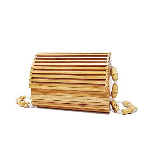 Natürlich Retro Rucksack,Bambus Tasche,Strand Tasche,Schulter Tasche,Bote Rucksack Schick Und Elegant/Wie gezeigt / 20×15cm