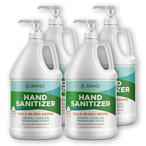 Jermee Moisturizing Hand Sanitizer Gel, 70% Alcohol - Kills...