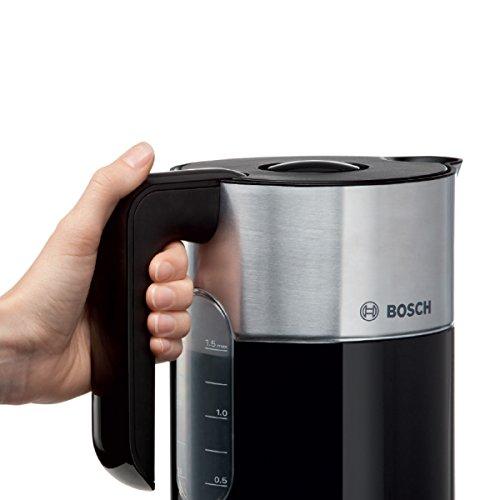 Bosch TWK8613P Wasserkocher Styline mit Edelstahlapplikation, 2400 W, für 1,5 L Wasser, schwarz - 4