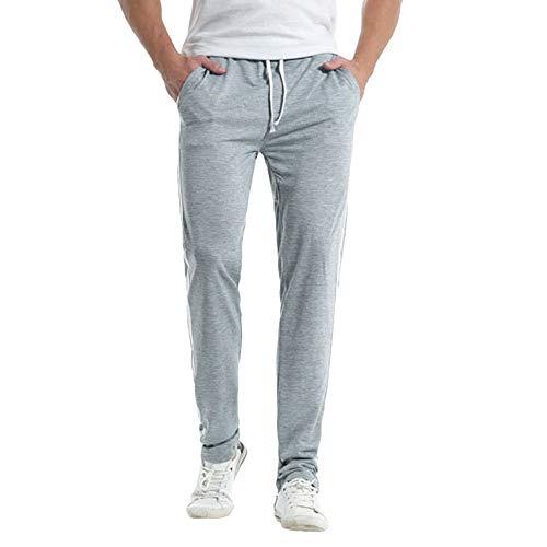 ZOELOVE Pantalones chandals Hombre Hombre Deportivos Cargo Casual Pantalón Slim Fit Jogging Pantalones Chandals de con Cordones para Hombre Pantalones Costura de Rayas