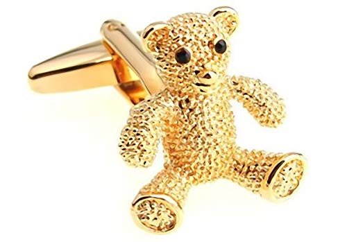 Cufflez Cufflinks – Manschettenknöpfe, das MUSS zu jedem Outfit – Goldener Bär