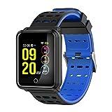 TagoBee TB06 IP68 a Prueba de Agua Smart Watch HD Touch Screen Fitness Tracker Soporte de presión Arterial frecuencia cardíaca Sleep Monitoring Contador de Pasos Compatible con Android y iOS(Blue)