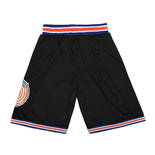 CAIYOO Youth Space Movie Shorts Kids Basketball Shorts Sports Pants for Boys S-XL White/Black (Black, Large)