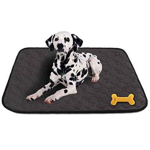 MeijieM 2 Pezzi Tappetini per Urine per Cani e Gatti - Pad di Allenamento per Animali Domestici Moquette Impermeabile Riutilizzabile Lavabile (67 * 50cm)