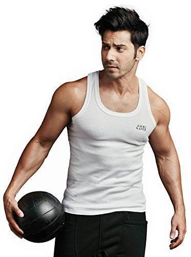 Lux Cozi Men's Cotton Vest (White, 90 cm) - Pack of 5