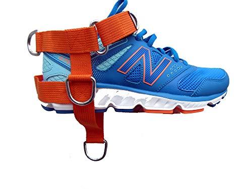 Orange 5-d Cheville / Pied Chaussure Sangle Pentagone 5 Anneau Câble Gym Machine Fixation pour Hommes / Femme Yoga, Pilate, Idéal pour Pied Thérapie Rehab