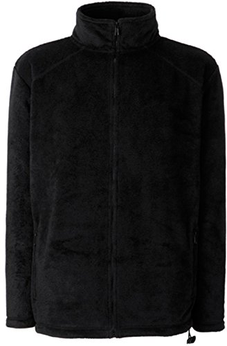 Fruit of the Loom Full Zip Fleece Schwarz XXL