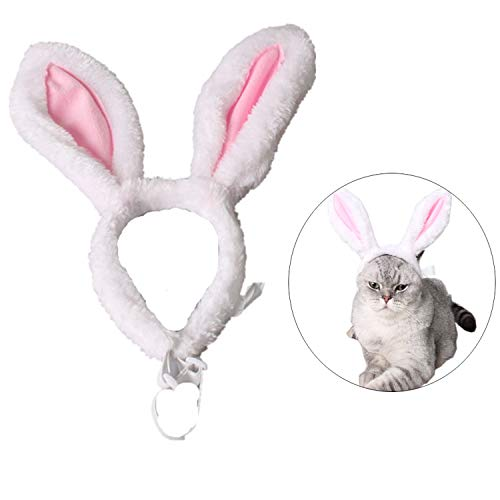 StyleZ Pet Headband Bopper Rabbit Bunny Ears Headband Head Accessories for Cats Puppy Dogs Christmas Easter Valentine's Day Party Costume (S)