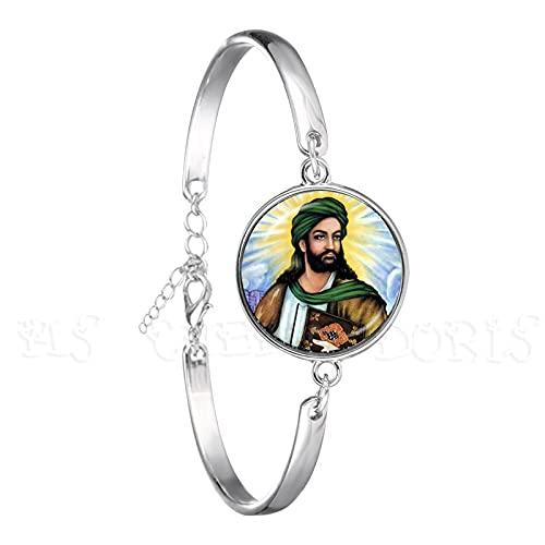 Allah Armband Arabisch Muslim 18Mm Glaskuppel Cabochon Schmuck Für Männer Frauen Religiöser Islam Islamischer Armreif Für Ramadan