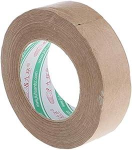 1 Roll Adhesive Tape Kraft Paper Tape Biodegradable, Repulpable, Non Toxic, Environmental Tasteless - 60mm