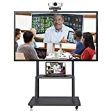 Suptek Mobile TV Cart Floor Stand for 40-100 inch TVs and LED LCD Screens Large Base Height Adjustable (ML1800B)