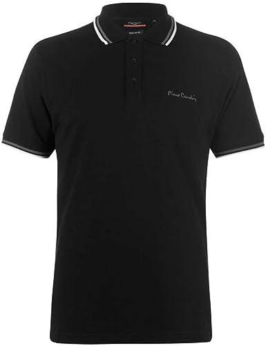 Pierre Cardin Camiseta con modelo polo cuello para hombre [extra grande] [Borgoña 1]