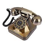 Teléfono Retro Vintage Antiguo Antiguo Moda Bronce Desktop Teléfono Fijo Teléfono Fijo para Home Office Hotel