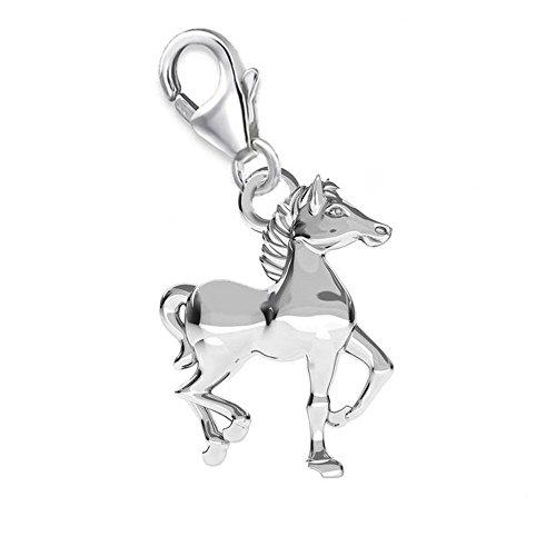 GH1A 3D Pferd CHARM 925 Echt Silber Anhänger Pferde Geschenkidee