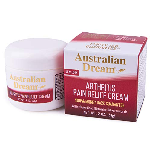 Australian Dream Arthritis Pain Relief Cream, 2 oz. Jar – Soothing Relief for Minor Aches & Pains – Odor-Free, Non-Greasy, Non-Burning – Muscle and Joint Pain Cream,