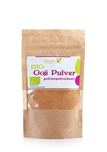 Vitavitee Bio Goji Pulver gefriergetrocknet Gojibeeren Pulver (200 g)