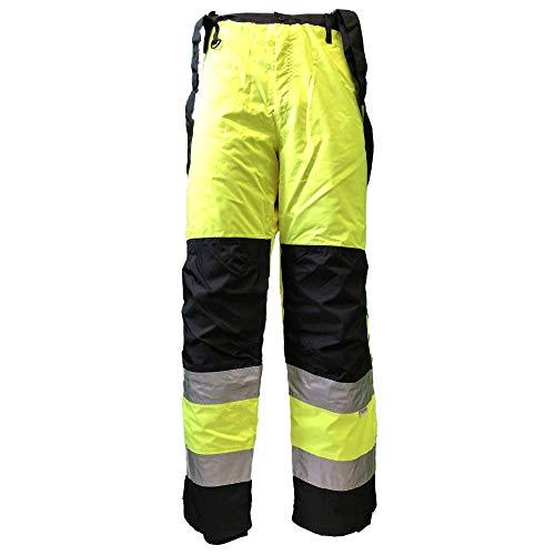 H en K waarschuwingsbescherming-winter-regenbroek veiligheidsbroek gevoerd geel/zwart XXL-3XL