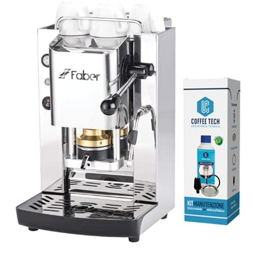 MACCHINA CAFFE A CIALDE IN CARTA ESE 44MM FABER SLOT INOX (TOTAL INOX CAPPUCCINATORE) + KIT MANUTENZIONE +20 CIALDE EMOZIONI QUOTIDIANE