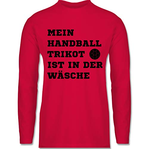 Shirtracer Handball - Mein Handball Trikot ist in der Wäsche - 3XL - Rot - Langarm - BCTU005 - Herren Langarmshirt