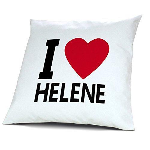 digital print Kopfkissen Helene, Kissen mit Füllung I Love Helene, 40 cm, 100% Baumwolle, Kuschelkissen, Liebeskissen, Namenskissen, Geschenkidee