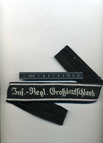 LAGERMAULWURF.de Ärmelband Großdeutschland, Wehrmacht, 2. Weltkrieg, Uniform,Sammeln, Landser