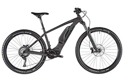 SERIOUS Bear Peak Power 2.0 - Bicicleta eléctrica de montaña, color negro