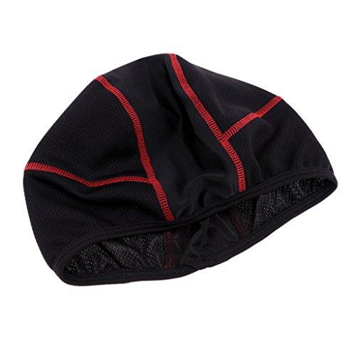 Baoblaze Bonnet Chapeau de Crâne sous Casque Beanie Cap pour Vélo Moto Ski - Rouge, 48cm