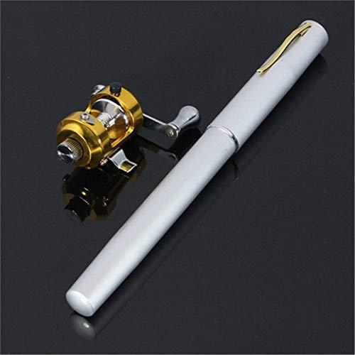 QA ペン型 釣り竿 釣竿 ポール ミニ 釣りリール コンパクトロッド 携帯 便利