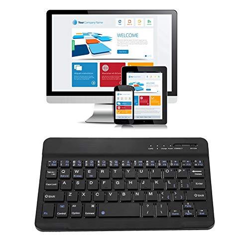 Bluetooth Keyboard, Aluminum Alloy Slient Portable Black Wireless Keyboard, Scissor for Desktop Laptop Smart Phone