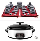 MassageMaster KIT PARA MASAJE DE PIEDRAS CALIENTES: 45 Piedras de Basalto, Calentador de 6 Litros