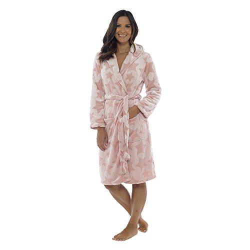 Foxbury - Albornoz - Estrellas - para Mujer Rosa Rosa Small 36-38