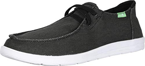 Sanuk mens Shaka Sneaker, Black, 9.5 US