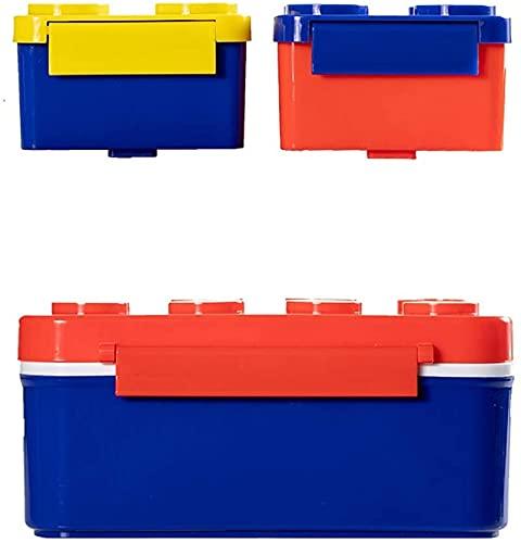 Bailing Geschirr Lunch Box Frischhaltung Box Food Storage Container Bauklotz Lunchbox große Kapazitäts-PP-Material Kreative Haupt Picknick Kind Erwachsene 800ml + 250ml * 2