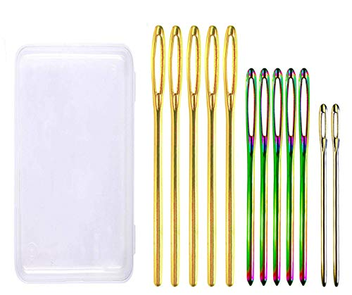 Fairycece Embroidery Needles Yarn Needle Knitting Needles Sewing Needles Darning Needles Tapestry Needle 12-Pack