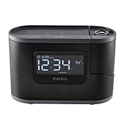 Homedics Recharged Alarm Clock & Sound Machine, Black