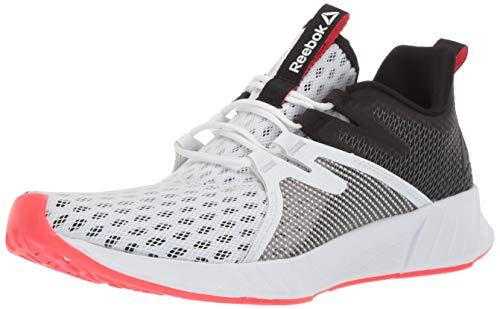 Reebok Men's FUSIUM Run 2.0, White/Black/neon red, 9 M US