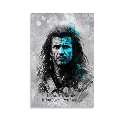 TINGTAI Braveheart Klassische Film- und TV-Poster, ein guter Film-Kunstdruck, Poster, dekoratives Gemälde, Leinwand, Wandkunst, Wohnzimmer, Poster, Schlafzimmer, Gemälde, 30 x 45 cm