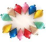 Lote de 4/8/12 Peonzas de Madera clásicas de Colores - Regalos y Detalles para...