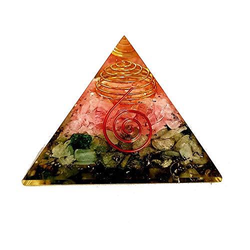 Sharvgun Rose Quartz Aventurine Energy Generator Healing Crystal Pyramid Emf Protection and Meditation Yoga 2.5-3 Inch