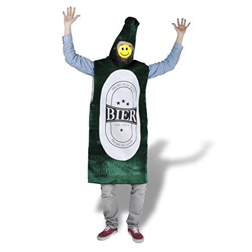 vidaXL lustig Bierkostüm Bierflasche Kostüm Faschingkostüme Karneval Verkleidung M/L