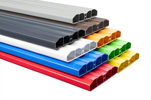 Muster Zaunlatte PZL-31 | widerstandsfähiges Hart-PVC | Kunststoffzaun | Balkonbretter | pflegeleicht | Graphit modern | 80 x 16 mm | Hexim