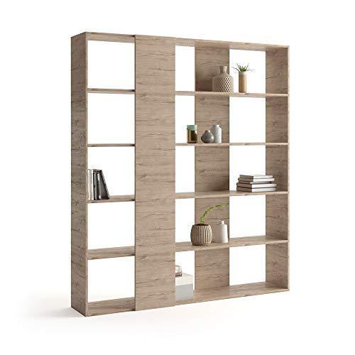 Mobili Fiver, Libreria Rachele, Quercia, 178 x 36 x 204 cm, Nobilitato, Made in Italy, Disponibile in Vari Colori