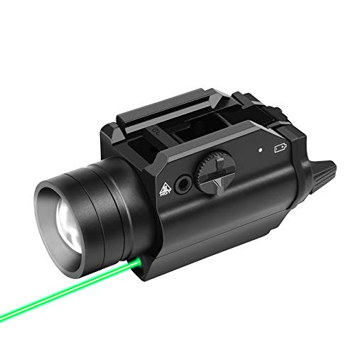 Gouso SFD-08 1000 Lumens Tactical Weaponlight with Green Light and White LED, 200 Meters Beam Distance Compatible with 1913/GL/P320/90 Two/TSW/99 Rail