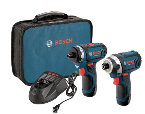 Bosch 12V 2-Tool Kit with Drill/Driver and Impact Driver, 2 Batteries - $99.00